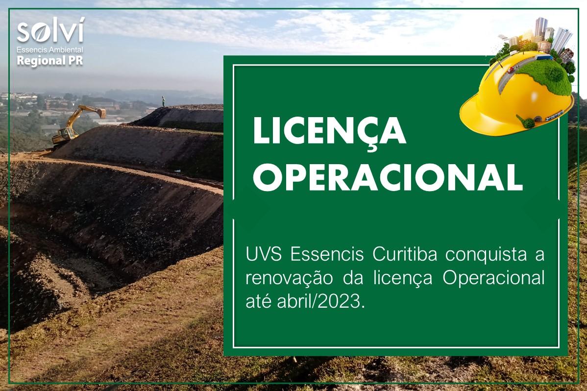 UVS Essencis Curitiba | Renovação da Licença Operacional