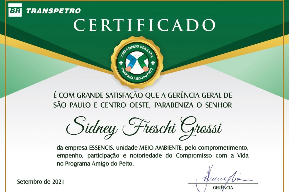 UVS EGA | Áreas Impactadas | TRP LEME recebe do cliente (TRANSPETRO) prêmio por desempenho em Saúde e Segurança Operacional – Programa Amigo do Peito