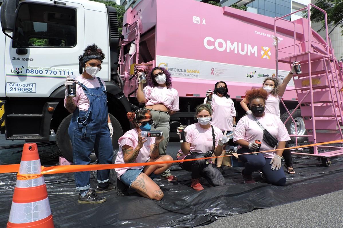 UVS Loga | Caminhão rosa e muita arte na Paulista
